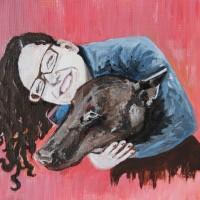 Mini painting. Jennifer and Luky. 2012.